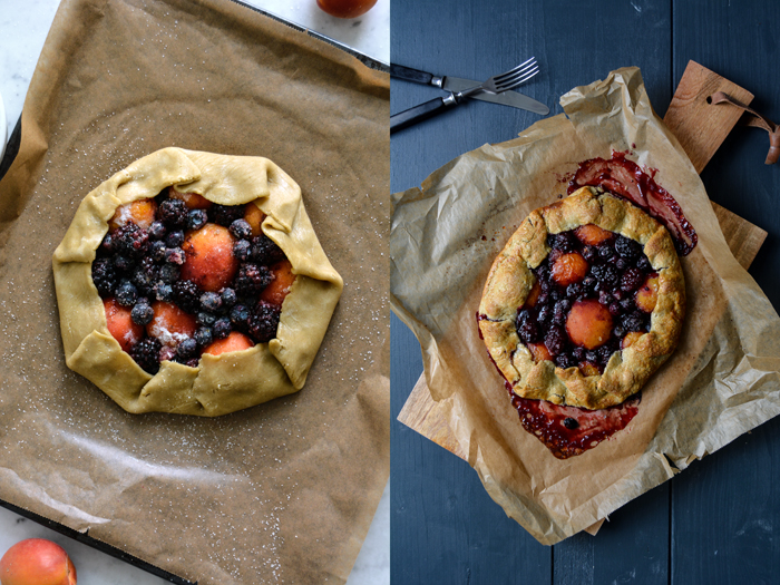 Apricot and Berry Galette