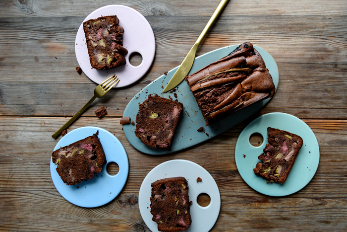 Rhubarb Chocolate Cake