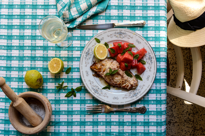 Grouper with Watermelon