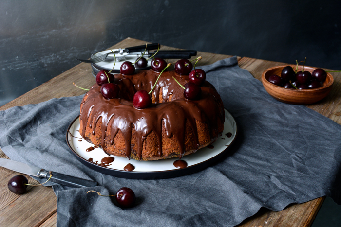 Cherry and Chocolate Marble Cake