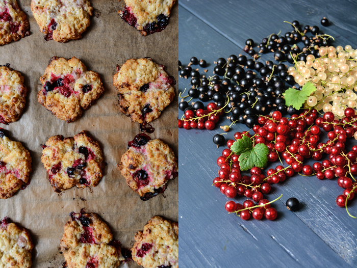 Black, White, and Red Currant Cookies with White Chocolate