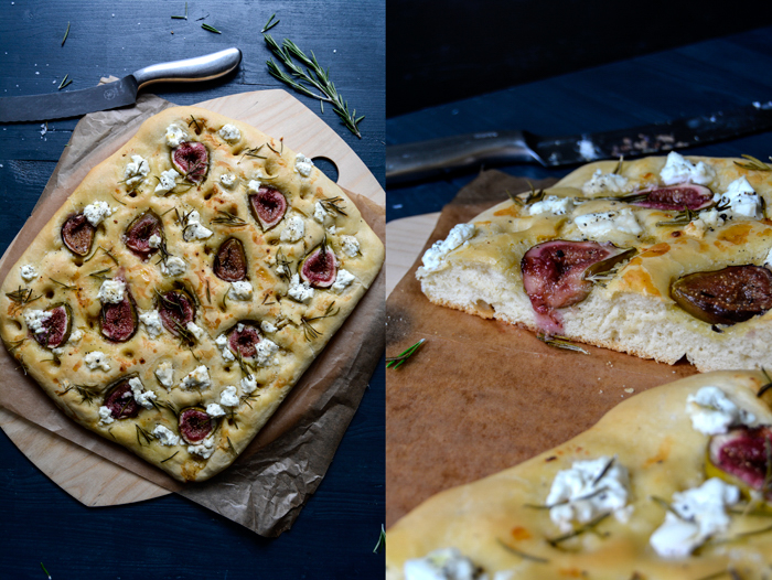 Fig, Chèvre and Honey Focaccia with Rosemary