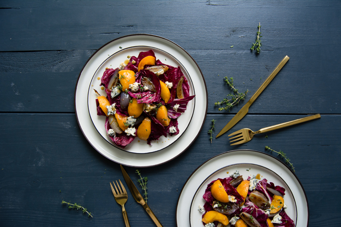 Radicchio, Peach & Stilton Salad