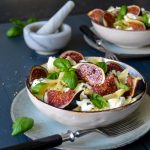 Farfalle Pasta with Figs, Mozzarella di Bufala and Honey Butter