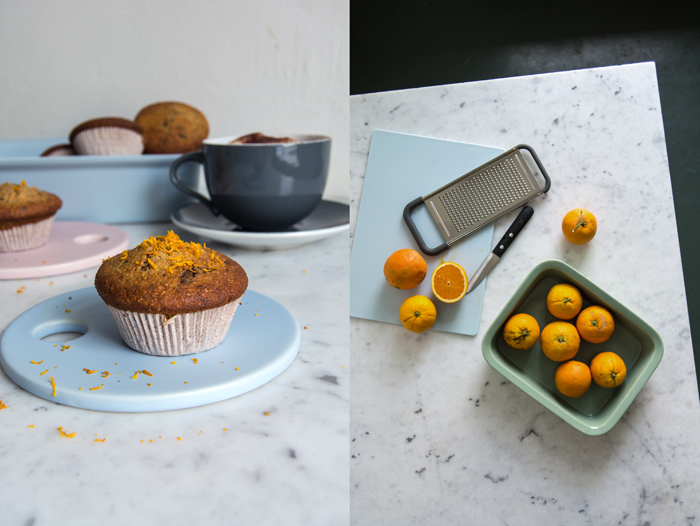 Orange, Chocolate & Buckwheat Muffins