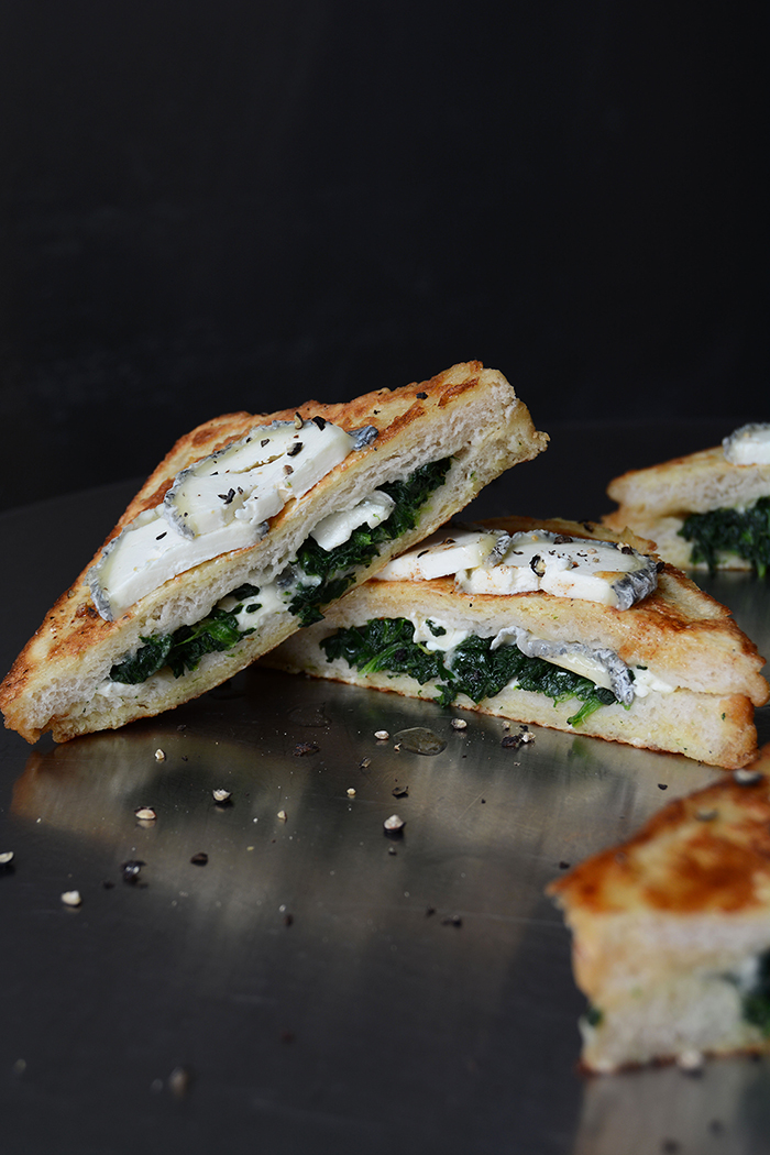 Spinach Chèvre Sandwich In Carrozza