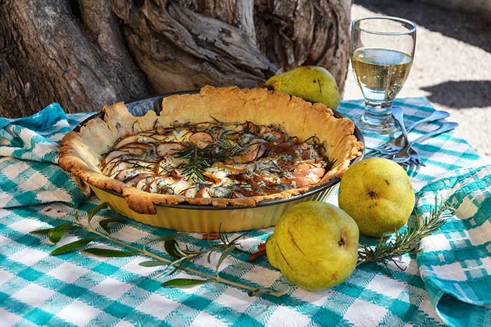 Pear and Blue Cheese Tart with Rosemary