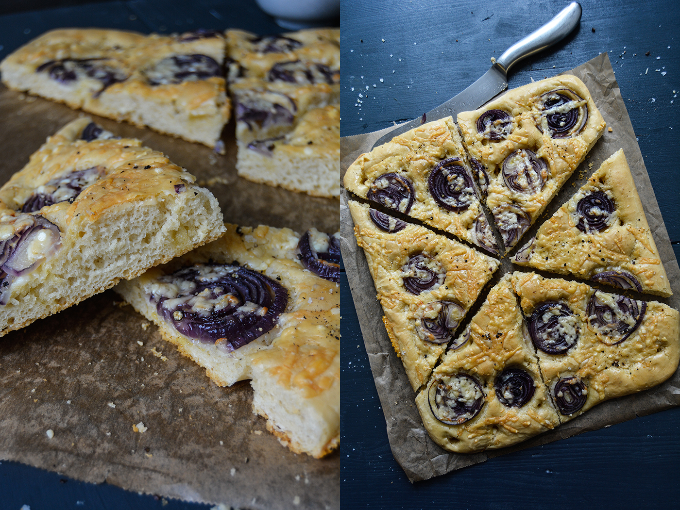 Gruyère and Red Onion Focaccia