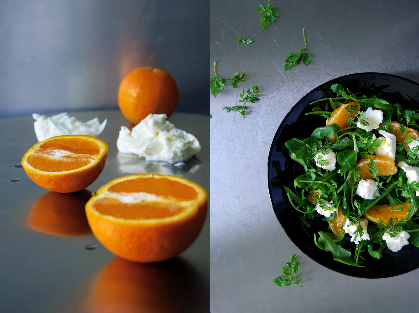 Orange Mozzarella Rucola Salad