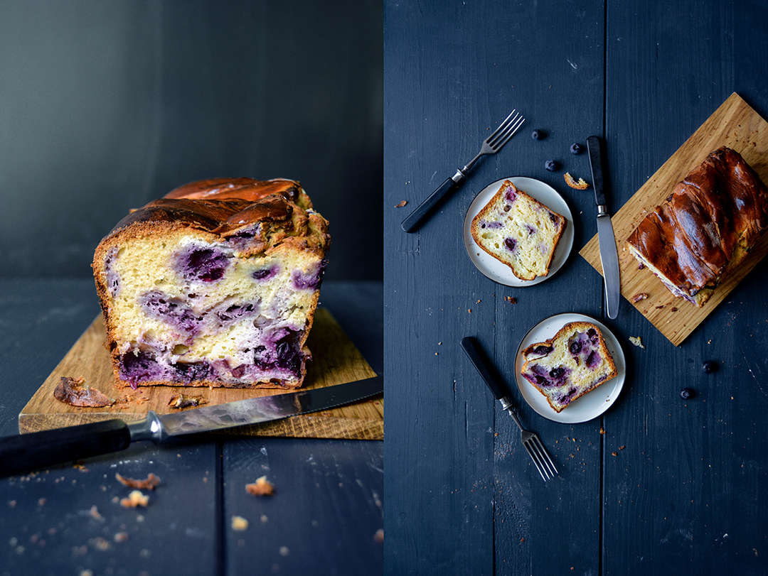 Blueberry Cheese Babka