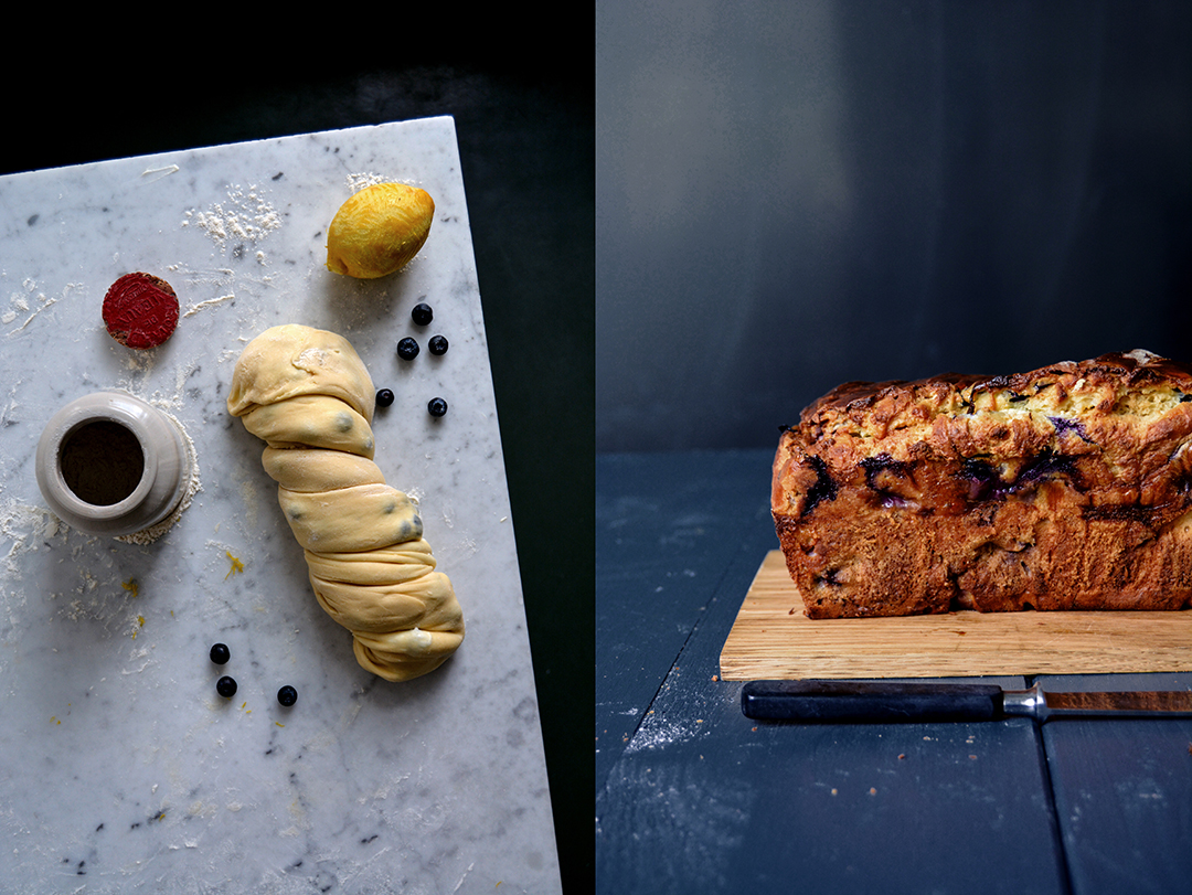 Blueberry Lemon Cheese Babka