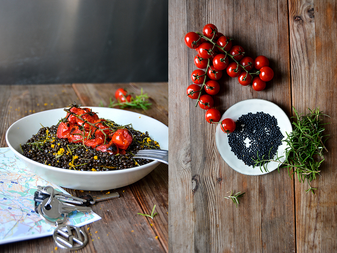 Lentils, Orange and Cherry Tomatoes