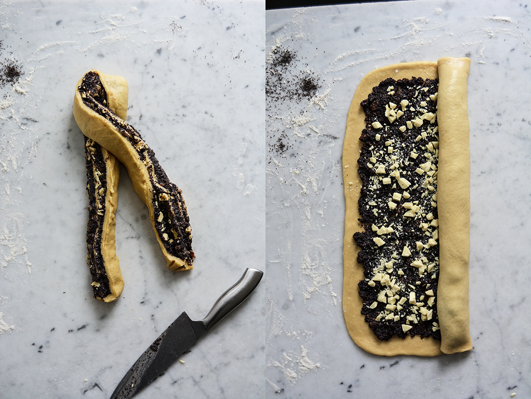 Poppy Seed and White Chocolate Babka