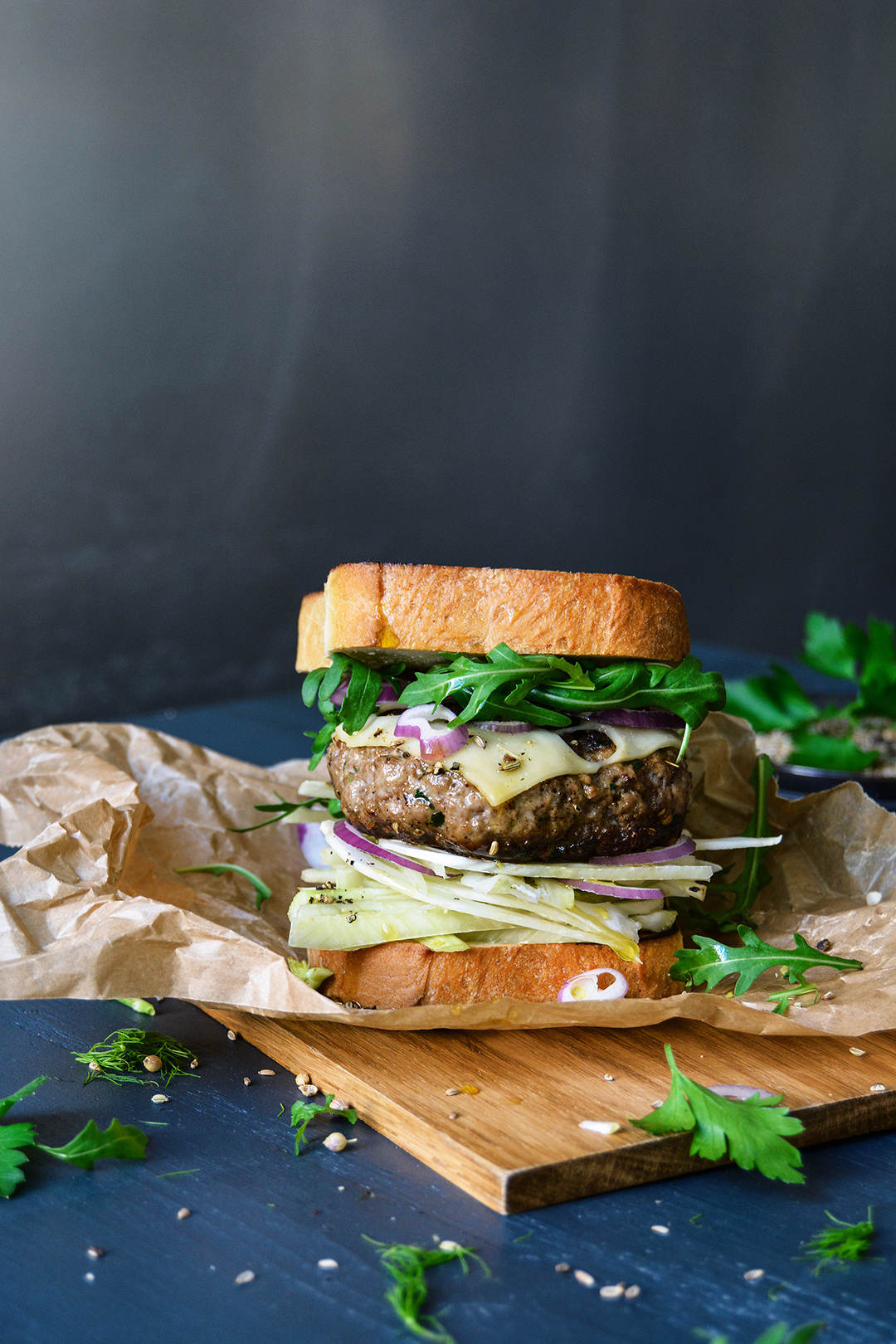 Maltese Fennel Cheeseburger Toast