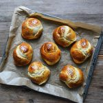 Marzipan-Ribboned Challah Knots