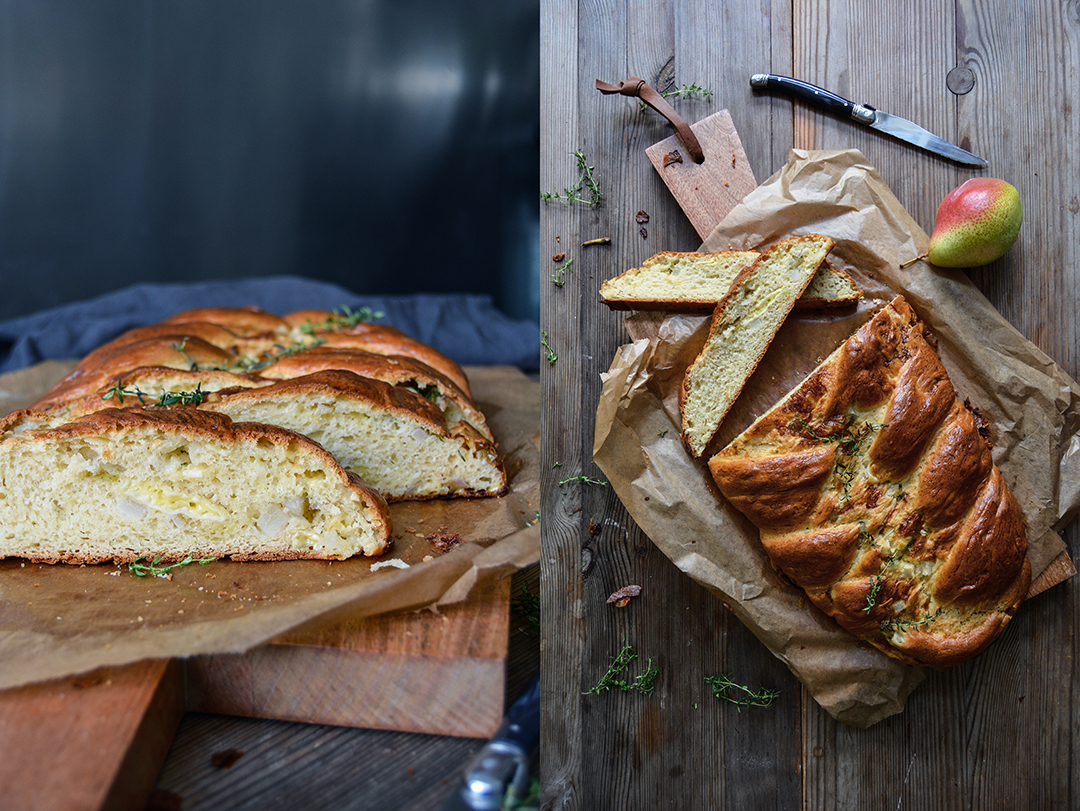 Camembert and Pear Challah