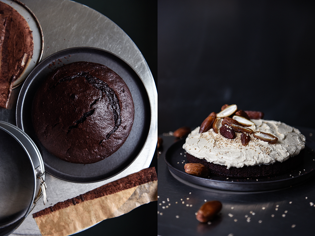 Chocolate Tahini Cake